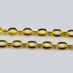 Gold Plated Flat Jewellery Chains