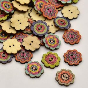 Printed Wooden Beads