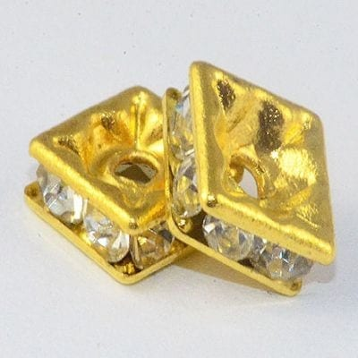 Rhinestone Beads - Square (6mm)