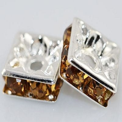 Rhinestone Beads - Square (8mm)