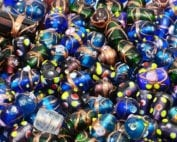 10 Lampwork Wedding Cake Variety Beads - Mix Lot 2