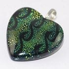 Dichroic Pendants - Heart Shape