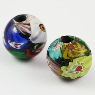 Millefiori Beads - Round (16mm)