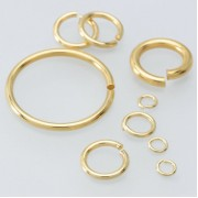 Sterling Silver Vermeil Open Jump Ring