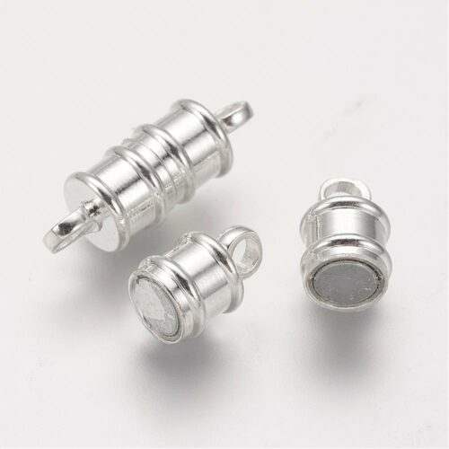 Barrel Silver Magnetic Clasp