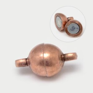 Red Copper Magnetic Clasp