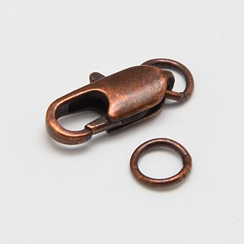 red copper lobster claw clasp