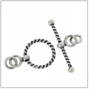 Twisted Wire Sterling Silver Toggle