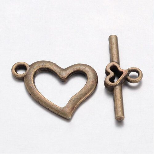 Antique Bronze Bar and Ring Toggle Clasp