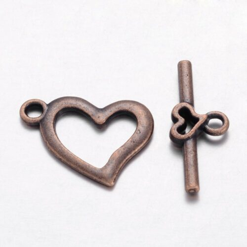 Metal Alloy Bar & Ring Toggle Clasp