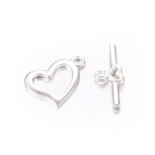 Silver Bar and Ring Toggle Clasp