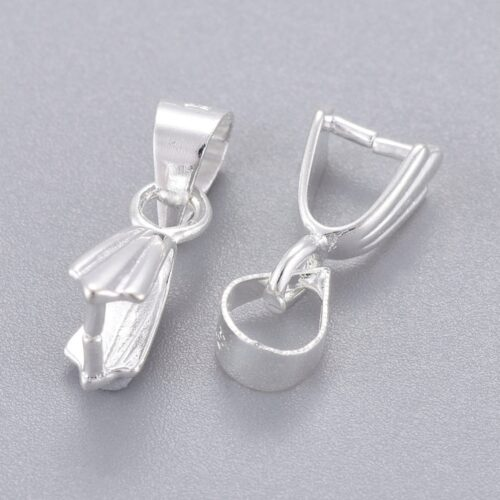 Silver Plated Pinch Bail Hooks