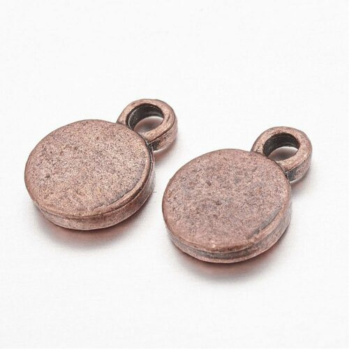 Super Stylish Round Charm Red Copper Metal Beads