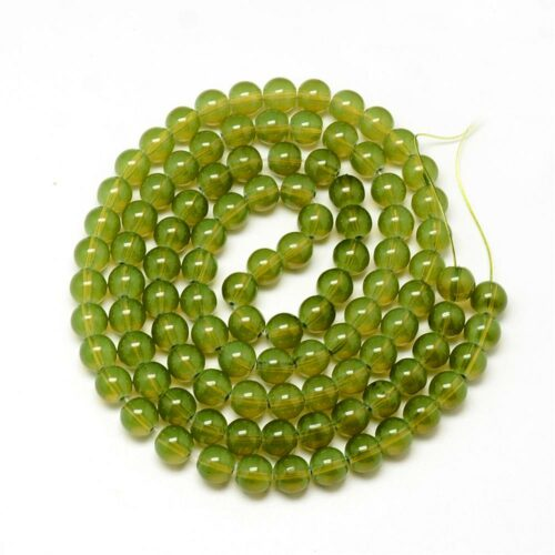Olive Glass Beads