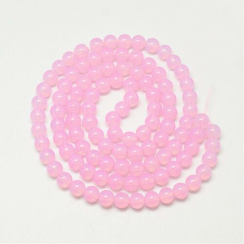 Pearl Pink Glass Beads