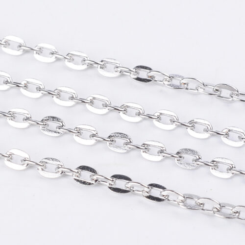 Silver Plated Metal Jewellery Chain